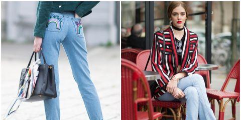 Clothing, Leg, Sleeve, Trousers, Textile, Collar, Outerwear, White, Denim, Pattern,