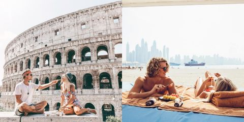 Tourism, Leisure, Summer, Ancient rome, Arch, Barechested, Amphitheatre, Sun tanning, Vacation, Travel,