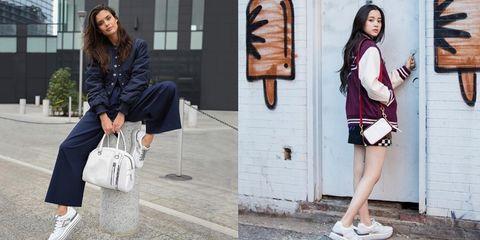 White, Street fashion, Clothing, Fashion, Footwear, Shoulder, Shoe, Outerwear, Joint, Jacket,