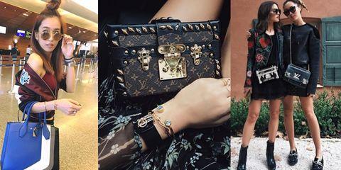 Street fashion, Fashion, Eyewear, Handbag, Fashion accessory, Leather, Sunglasses, Footwear, Bag, Wrist,