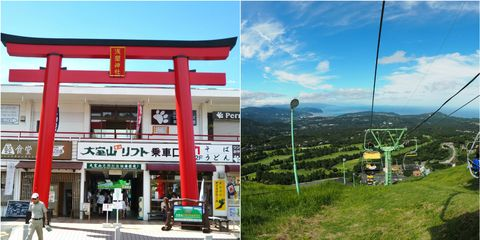 Town, Land lot, Chinese architecture, Mountain range, Travel, Hill station, Pole, Japanese architecture, Door, Torii,