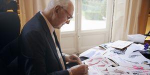 奧黛麗赫本摯友,時尚設計師Hubert de Givenchy 紀梵希先生繪製手稿