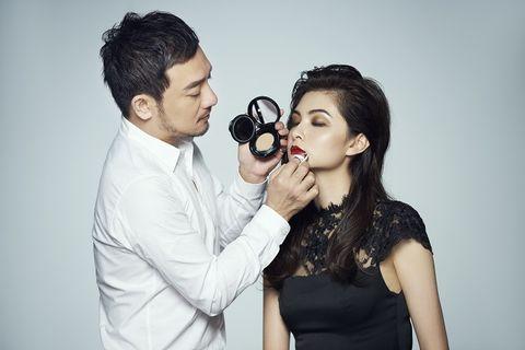Hair, Head, Ear, Photograph, Dress, Fashion accessory, Interaction, Black hair, Beauty, Love,