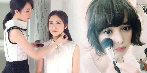 Nose, Lip, Eye, Hairstyle, Skin, Eyebrow, Eyelash, Style, Black hair, Drink,