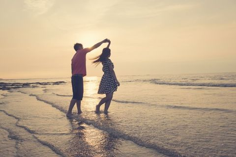 People on beach, People in nature, Ocean, Shore, Interaction, Horizon, Vacation, Beach, Holiday, Love,
