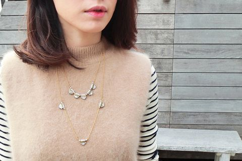 Skin, Shoulder, Joint, Chest, Fashion accessory, Fashion, Beauty, Street fashion, Neck, Necklace,