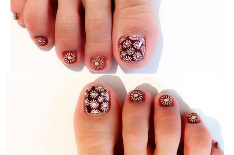 Finger, Blue, Skin, Nail care, Nail, Nail polish, Red, Manicure, Style, Pink,