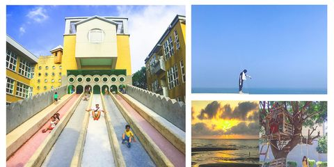 Yellow, Architecture, Collage, Illustration, Art, Tourism, Photography, Building, House, Colorfulness,