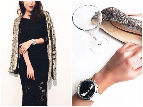 Finger, Sleeve, Wrist, Fashion accessory, Style, Watch, Fashion, Pattern, Black, Nail,