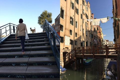 Stairs, Waterway, Handrail, Channel, Apartment, Canal, Bridge,