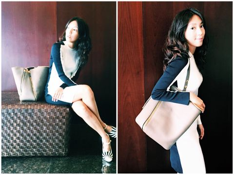 Sleeve, Shoulder, Collar, Style, Beauty, Black hair, Sitting, Fashion, Youth, Knee,