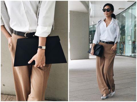 Collar, Sleeve, Joint, Dress shirt, White, Style, Formal wear, Waist, Fashion accessory, Fashion,