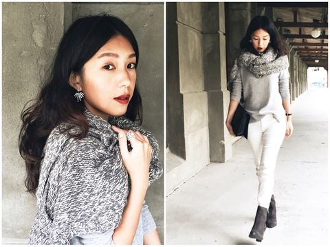 Clothing, Sleeve, Textile, Style, Fashion model, Street fashion, Black hair, Earrings, Beauty, Fashion accessory,