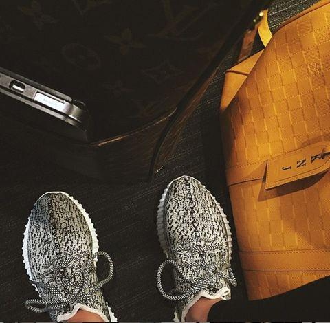 Bag, Grey, Tan, Walking shoe, Leather, Synthetic rubber, Pocket, Running shoe, Silver, Outdoor shoe,