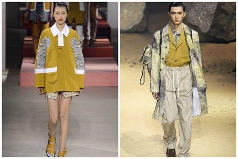 Yellow, Sleeve, Collar, Style, Fashion model, Fashion, Dress, Street fashion, Costume design, One-piece garment,