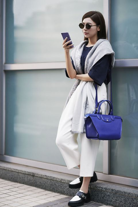 Clothing, Blue, Product, Shoulder, Outerwear, White, Bag, Fashion accessory, Style, Street fashion,