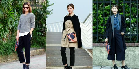 Clothing, Footwear, Leg, Coat, Collar, Sleeve, Trousers, Green, Human body, Textile,