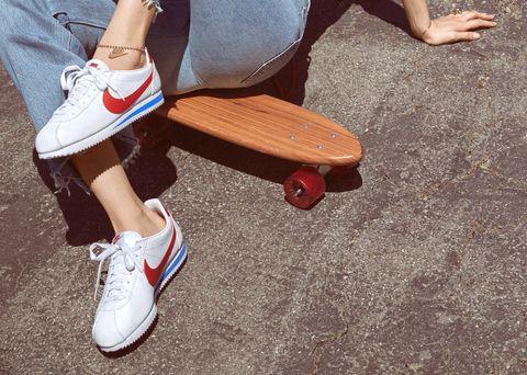 Footwear, Human leg, Shoe, Leg, Cool, Ankle, Skate shoe, Skateboard, Plimsoll shoe, Skateboarding,