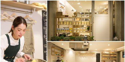 Cook, Interior design, Room, Countertop, Table, Cooking, Kitchen, Chef, Shelf, Recipe,