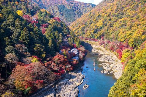 Nature, River, Leaf, Natural landscape, Wilderness, Mountain, Tree, Autumn, Biome, Sky,