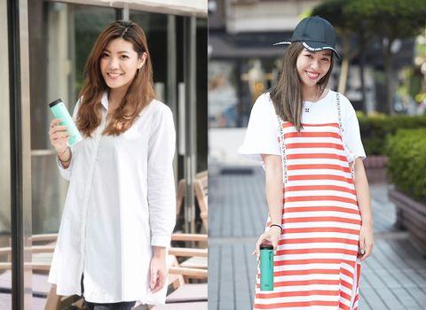 Clothing, White, Street fashion, Shoulder, Fashion, Sleeve, Dress, Waist, Neck, T-shirt,