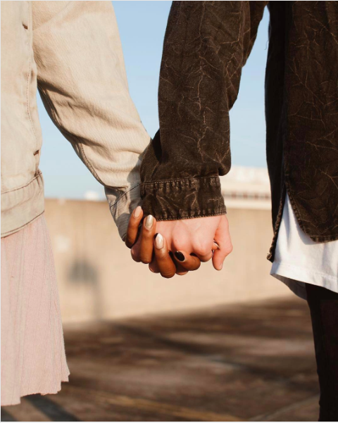 Finger, Sleeve, Wrist, Joint, People in nature, Khaki, Interaction, Gesture, Fashion, Holding hands,