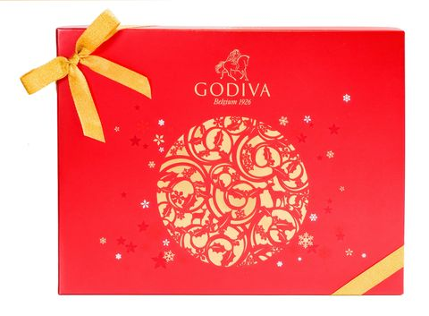 Text, Ribbon, Red, Present, Paper product, Paper, Greeting card, Circle, Gift wrapping, Label,
