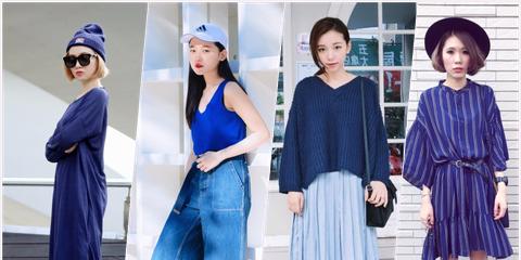 Clothing, Blue, Sleeve, Textile, Style, Pattern, Street fashion, Waist, Headgear, Denim,