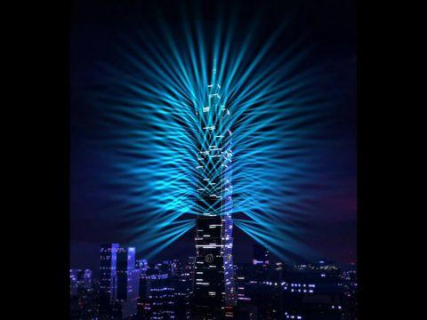 Blue, Night, Urban area, Tower, Tower block, Metropolitan area, Darkness, Colorfulness, City, Metropolis,