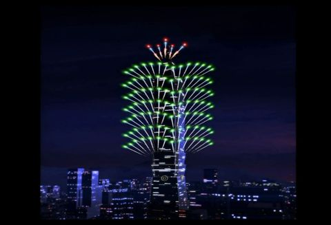 Blue, Night, Tower block, City, Tower, Urban area, Metropolitan area, Metropolis, Facade, Condominium,