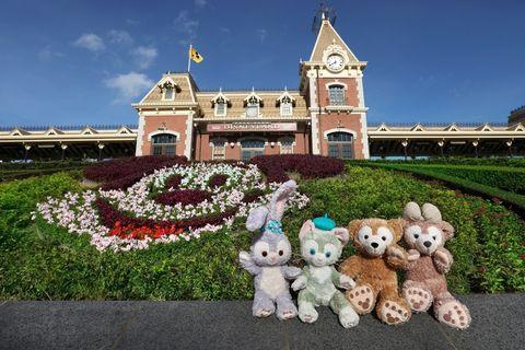 Stuffed toy, Toy, Plush, Landmark, Flag, Garden, Teddy bear, Shrub, Groundcover, Hedge,