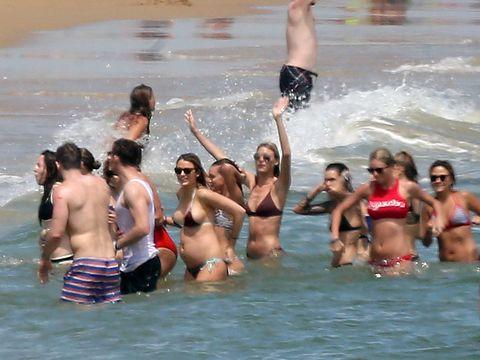 Clothing, Fun, Brassiere, Swimwear, Recreation, Water, Leisure, Swimsuit top, Summer, Bikini,