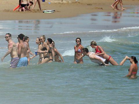 Clothing, Fun, Water, Leisure, Summer, Bikini, Swimsuit top, Swimwear, Undergarment, Vacation,