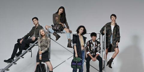 Footwear, Leg, Product, Fashion, Team, Jacket, Fashion design, Fashion model, Crew, Animation,