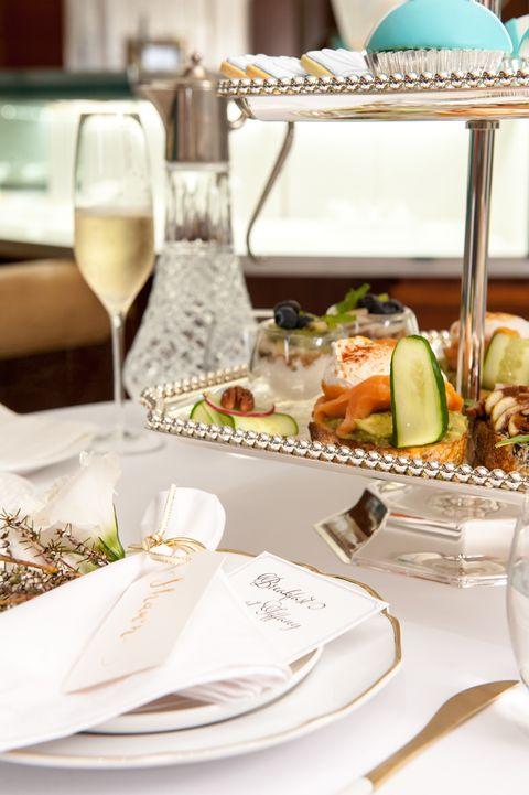 Meal, Food, Stemware, Brunch, Banquet, Rehearsal dinner, Dish, Table, Cuisine, Restaurant,