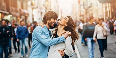 People, Trousers, Jeans, Photograph, Denim, Street, Street fashion, Interaction, Jacket, Honeymoon,