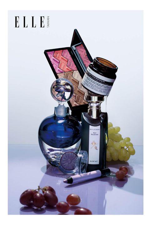 Product, Perfume, Bottle, Fluid, Glass bottle, Liquid, Purple, Glass, Still life photography, Drinkware,