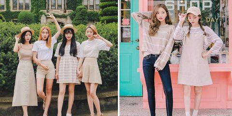 White, Clothing, Footwear, Fashion, Pink, Street fashion, Dress, Shoe, Style, Fashion model,