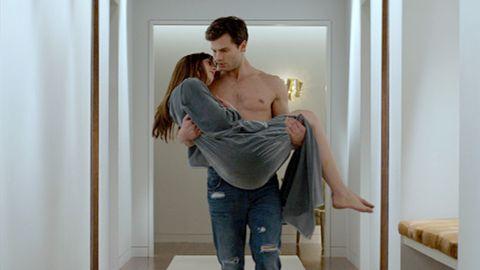 Shoulder, Jeans, Elbow, Denim, Joint, Comfort, Flooring, Trunk, Chest, Love,