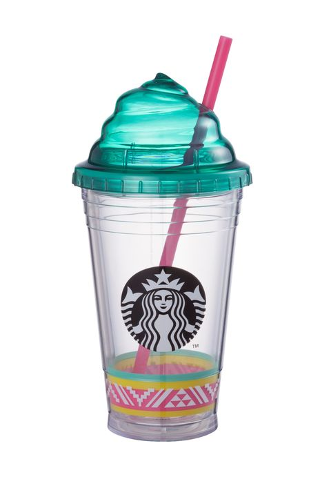 Drinkware, Drinking straw, Teal, Turquoise, Aqua, Fast food, Lid, Tumbler, Party supply, Dairy,
