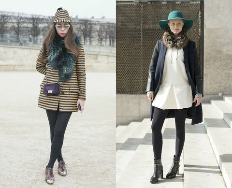 Clothing, Leg, Sleeve, Winter, Pattern, Textile, Outerwear, White, Hat, Style,
