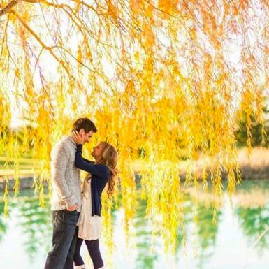 Yellow, People in nature, Reflection, Romance, Honeymoon, Interaction, Bank, Love, Lake, Gesture,