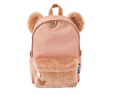 Backpack, Bag, Pink, Brown, Footwear, Beige, Peach, Fur, Fashion accessory, Leather,