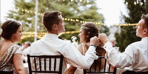 Photograph, Event, Fun, Ceremony, Wedding dress, Photography, Dress, Happy, Bridal clothing, Wedding,