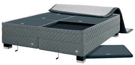 gray tufted duxiana bed