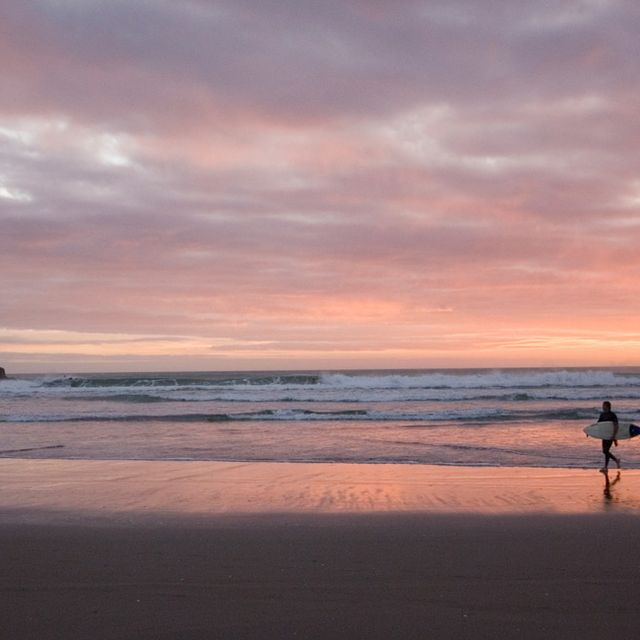 Leaving Piha Beach, Auckland, New Zealand