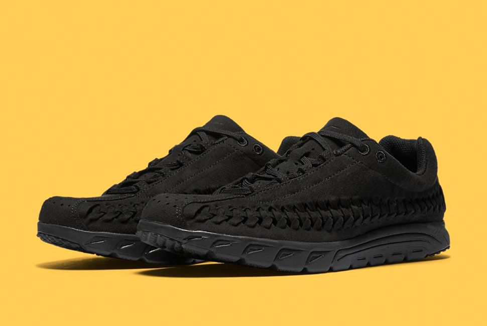 nike mayfly woven trainers black
