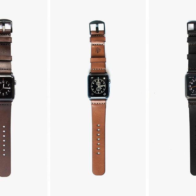 Bexar-Goods-Co-Apple-Watch-Strap-Cordovan-gear-patrol-lead-full