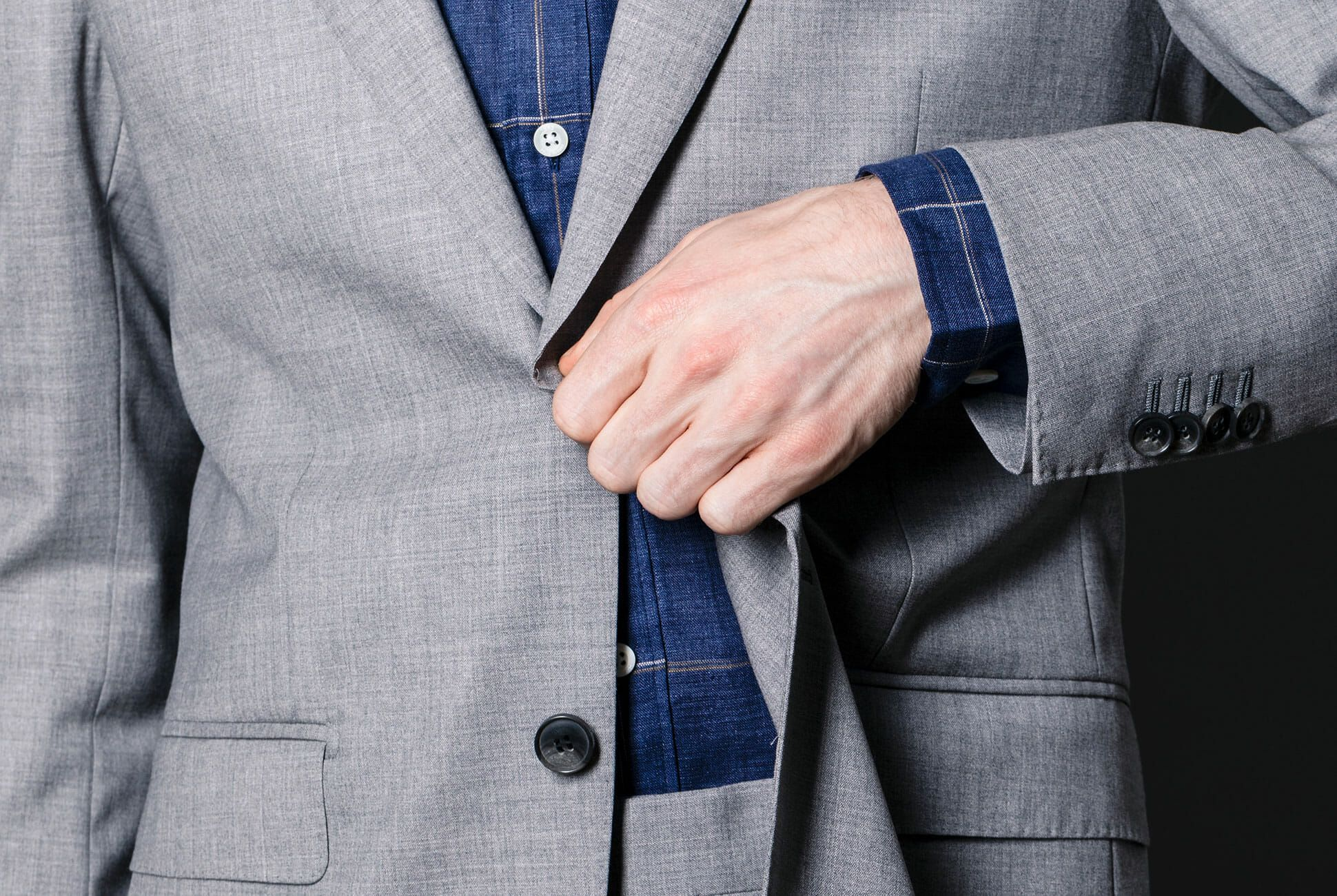 Vintage J.CREW Grey Stripped Suit