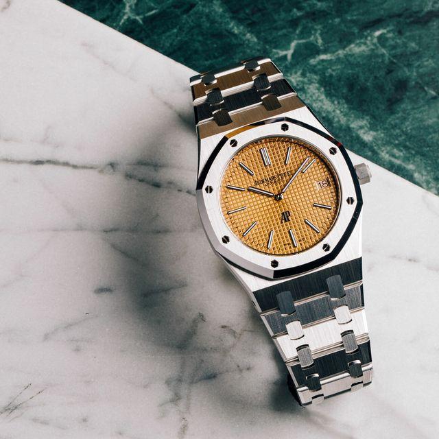 ap gold dial royal oak jumbo watch